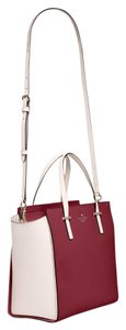 Kate Spade Cedar Street Satchel in Merlot And White