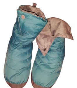 REI Down Slippers Insulated Pacific Blue Boots