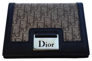 Dior Auth Christian Dior Card Holder Folded Brown Wallet with Monogram