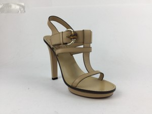 Gucci Platform Tan Leather Sandal Beige Sandals