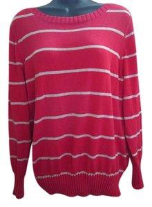 Sonoma Plus-size Striped Metallic Sweater
