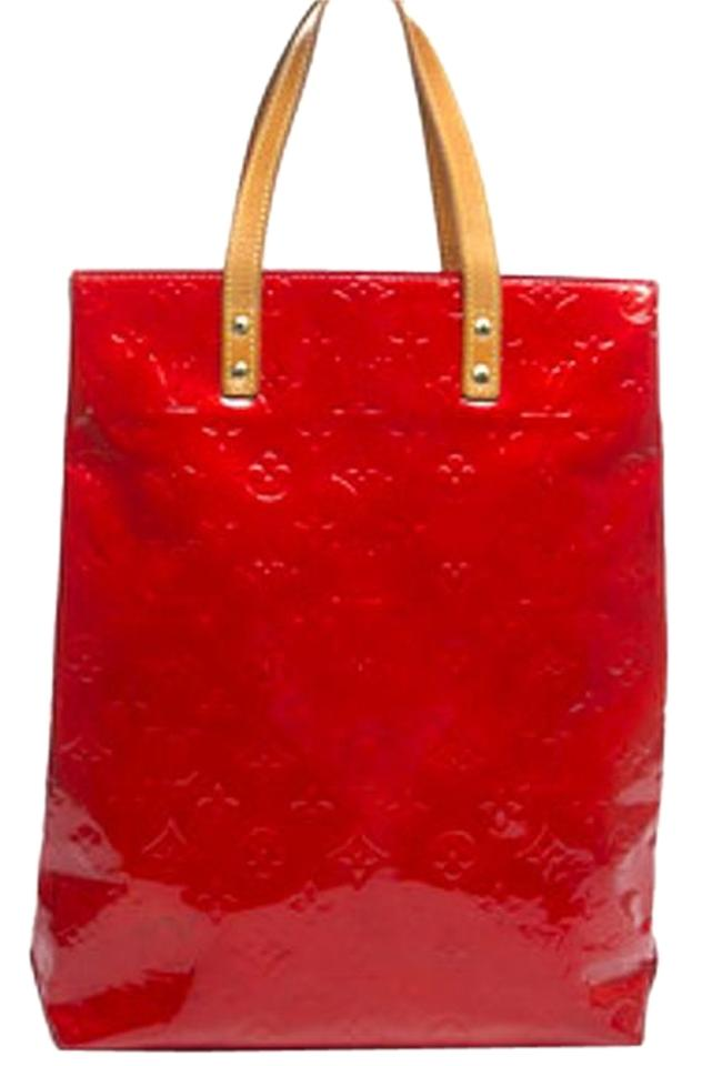 79637f5fac1f Louis Vuitton Lv Reade Mm Vernis Lv Handbag Lv Handbag Purse Lv Shoulder  Tote in Red ...