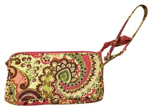 Vera Bradley New Wristlet in Pink, Cranberry, White, Lite Green, Plum