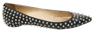 Christian Louboutin Spiked Black Flats