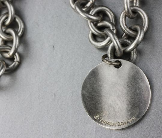 Tiffany & Co. * Tiffany & Co Wave Circle Tag Pendant On Link Chain Necklace Image 2
