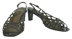 Stuart Weitzman Brown Patent DARK BROWN Sandals