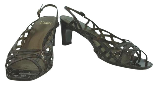 Item - Dark Brown Patent Leather N Sandals Size US 8 Narrow (Aa, N)