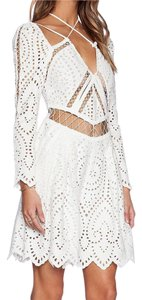 ZIMMERMANN Eyelet Romper Playsuit Dress