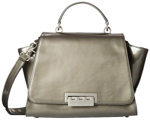 Zac Posen Leather Oversized Tote in Gray/Castle