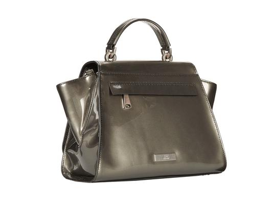 Zac Posen Leather Oversized Chic Tote in Gray/Castle