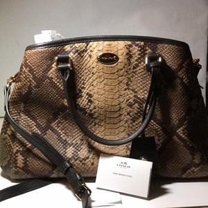 Coach Satchel in IM / Natural Snake