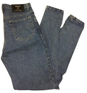 Versace Designer Boyfriend Cut Jeans-Medium Wash