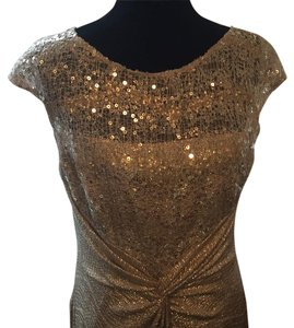 David Meister Sequin Beaded Dress