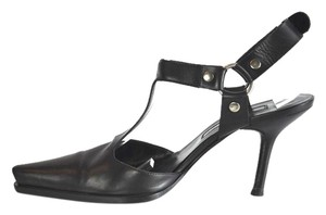 Sergio Rossi Pointed Toe Black Pumps