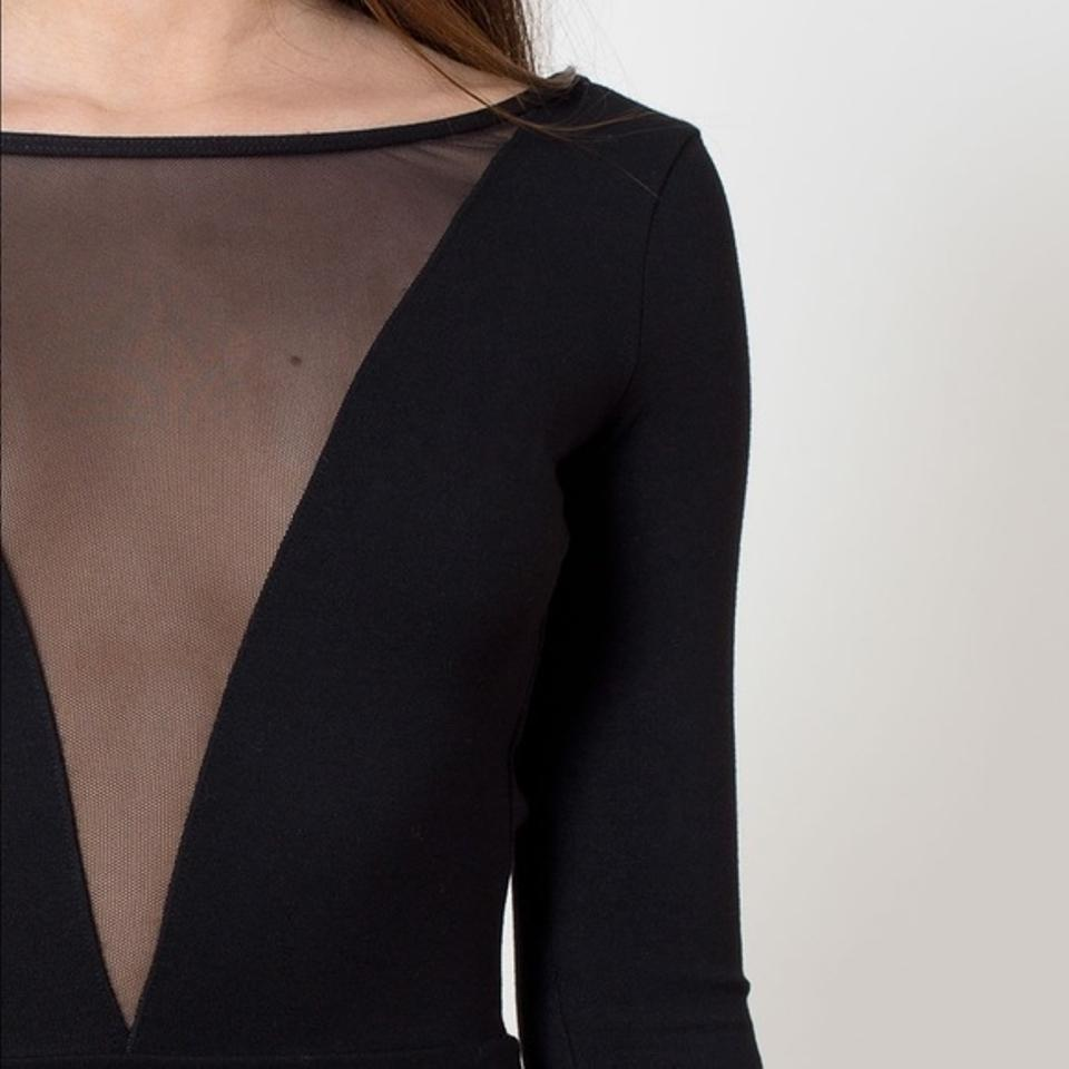 f44e82cb98 American Apparel Black For Kelsey  Deep V Mesh Skater Mini Night Out ...