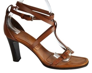 Hermès Strappy Brown Sandals