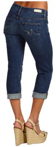 AG Adriano Goldschmied Tomboy Crop 7 Years Aged Cropped Summer Boyfriend Cut Jeans-Dark Rinse