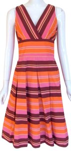 Kay Unger short dress Multi Color Cotton V-neck Sleeveless on Tradesy