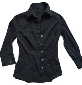Express Dress Career Button Down Shirt Black