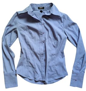 Express Business Casual Career Button Down Shirt Periwinkle