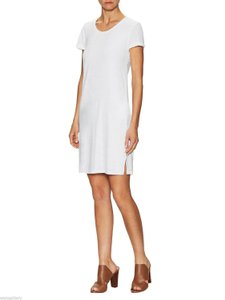 James Perse short dress White James Rolled Sleeve T Shirt In Cotton on Tradesy