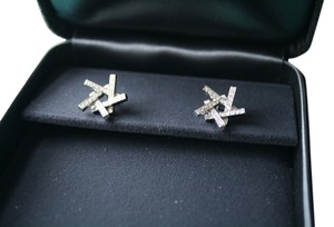 Tiffany & Co. Tiffany & Co. Frank Gehry 18K White Gold and Diamond Axis Studs