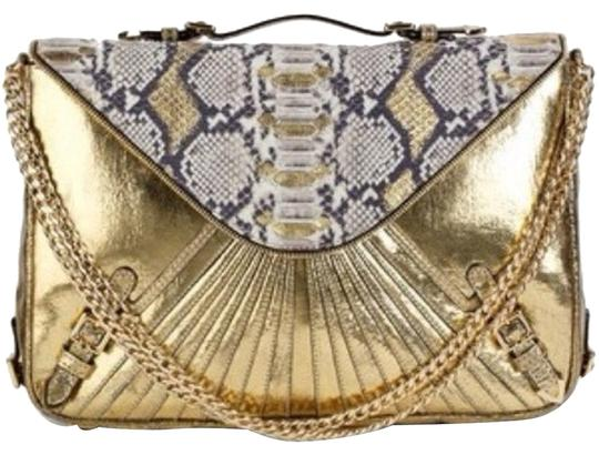 Rebecca Minkoff Cali Front Flap Convertible Clutch Chain Luxury Glam Limited Edition Large Clutch Amazing Collectors Piece Shoulder Bag