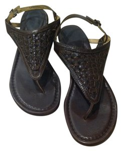 Frye Western Bohemian Leather Brown Sandals