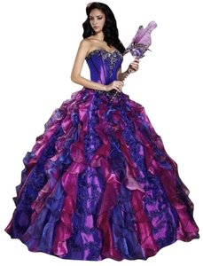 House of Wu Quinceanera Quince Sweet 16 Xvi Xv Ball Gown Masquerade Mardigras Sequin Lace Trim Embellished Dress