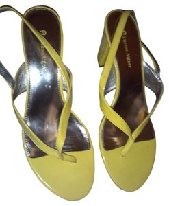 Etienne Aigner Yellow Sandals