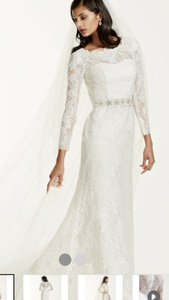 Galina Long Sleeve Wedding Dress With Beaded Lace Wedding Dress