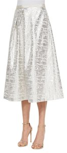 Kay Unger Silver Phoebe By Size 6 Skirt