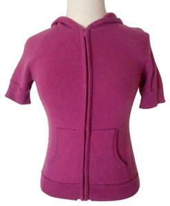 Lord & Taylor Hooded Cashmere Zip-front Hoodie Sweater