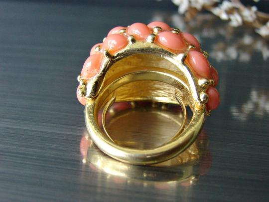 Kenneth Jay Lane Coral cocktail ring by Kenneth Lane. Signed. Adjustable