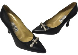 Versace Medusa Valentino Vintage Diamond Diamonds Black Pumps