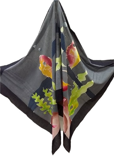 Preload https://item5.tradesy.com/images/multi-color-hand-printed-cotton-cover-upshawl-scarfwrap-1663999-0-0.jpg?width=440&height=440