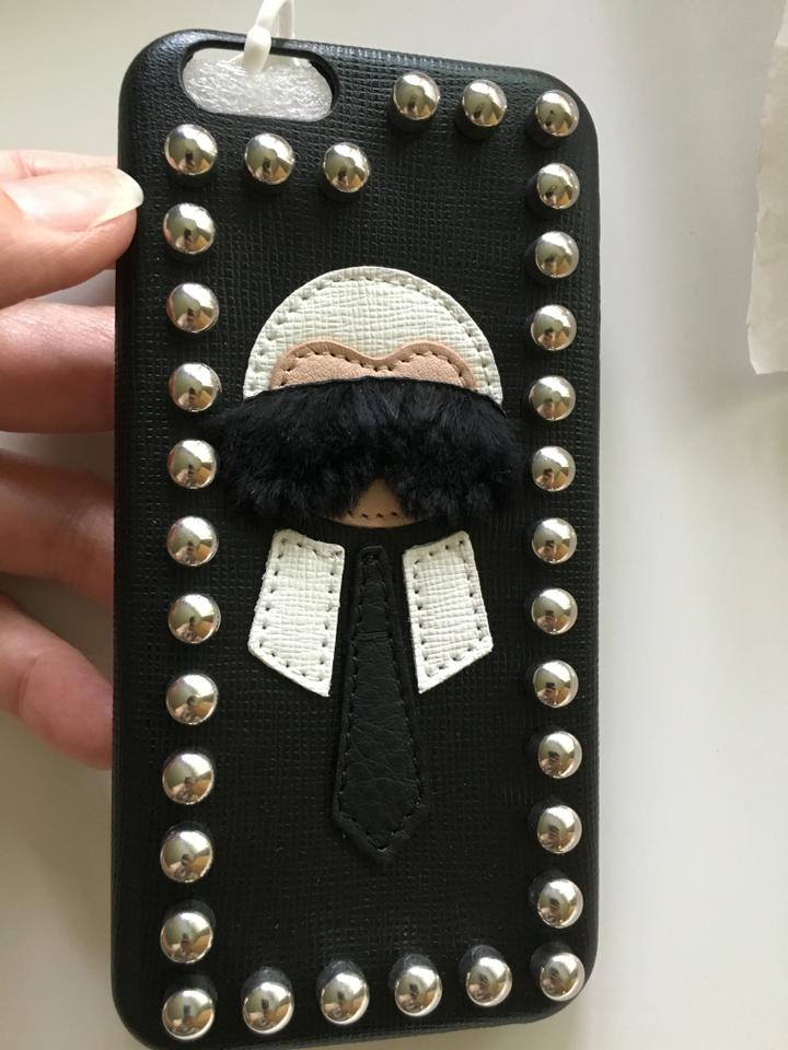Wristlet Black 6 New 'karlito' Fendi Leather Case Iphone tXwnFUnxq0