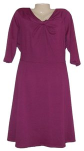 Purple Maxi Dress by Danny & Nicole Knit Stretch Plus Size