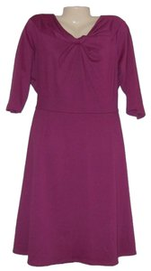 Purple Maxi Dress by Danny & Nicole Plus Size Knit Stretch