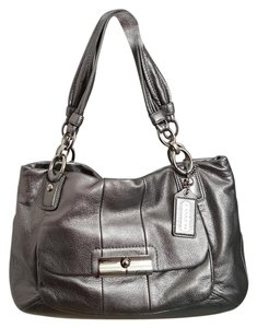 Coach Tote in Silver/Gunmetal