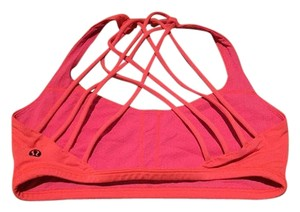Lululemon Lululemon Free to be Wild Bra, Electric Coral, Size 6