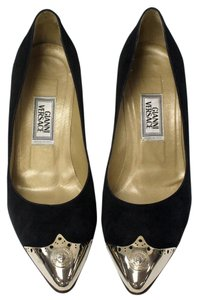 Versace Medusa Gucci Chanel Lambskin Black Pumps