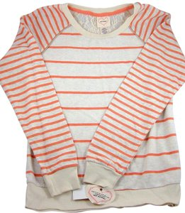 Self Esteem T Shirt Orange and Ivory Stripe