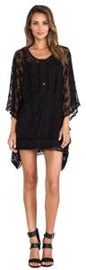 Nightcap short dress Black Tunic Lace Cover Up on Tradesy