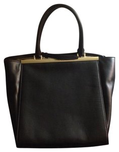 MICHAEL Michael Kors Leather Shoulder Strap Tote in Black
