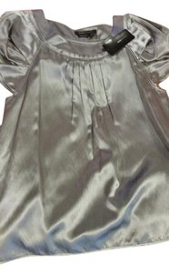 BCBGMAXAZRIA Top Silver/grey/