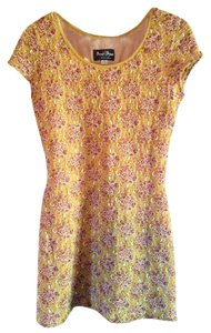 Bisou Bisou short dress Yellow Vintage on Tradesy