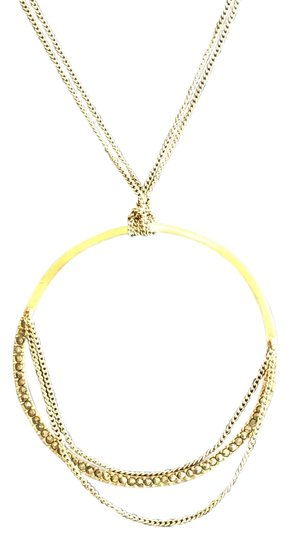 Kenneth Cole Reaction Kenneth Cole Reaction Gold Circle with Crystals Necklace