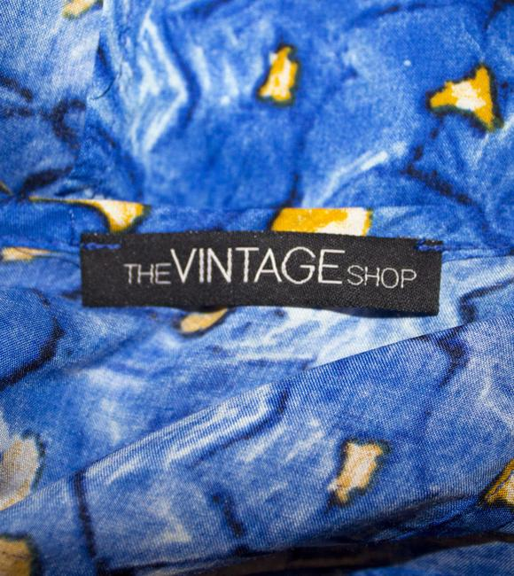 The Vintage Shop Gold Buttons Gold Buttons Abstract Geometric Print Designer Cute Adorable Affordable Forever 21 Victorian Flowy Natural Tunic