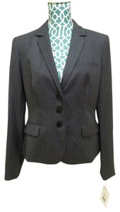 Calvin Klein CALVIN KLEIN Blazer Suit Jacket Grey Striped Classic Womens Jacket